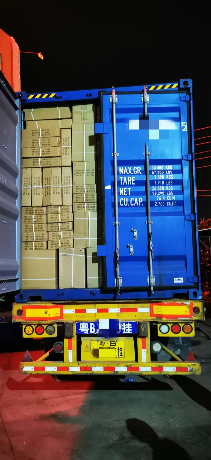 40 GP Container of GN Pans and Chafing Dishes was Sent to Europe