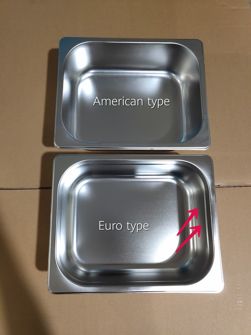 What is the Differences Between European Style & American Style GN Pan?