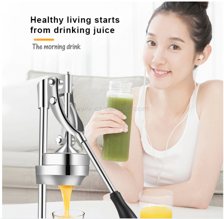 Commercial Grade Hand Press Manual Stainless Steel Juicer